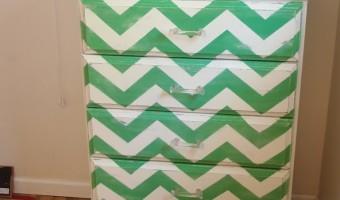 Green Chevron Dresser