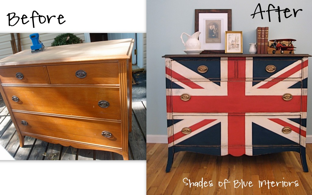 red white blue dresser shades of blue interiors