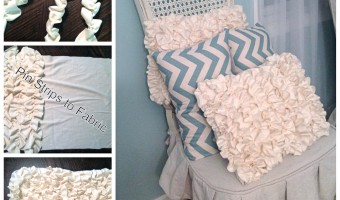 Ruffle Pillow in 4 Easy Steps