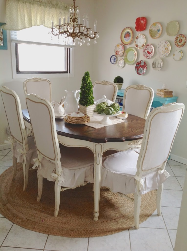 blue dining room set   Dining Set Redo and a Winner! - Shades of Blue Interiors