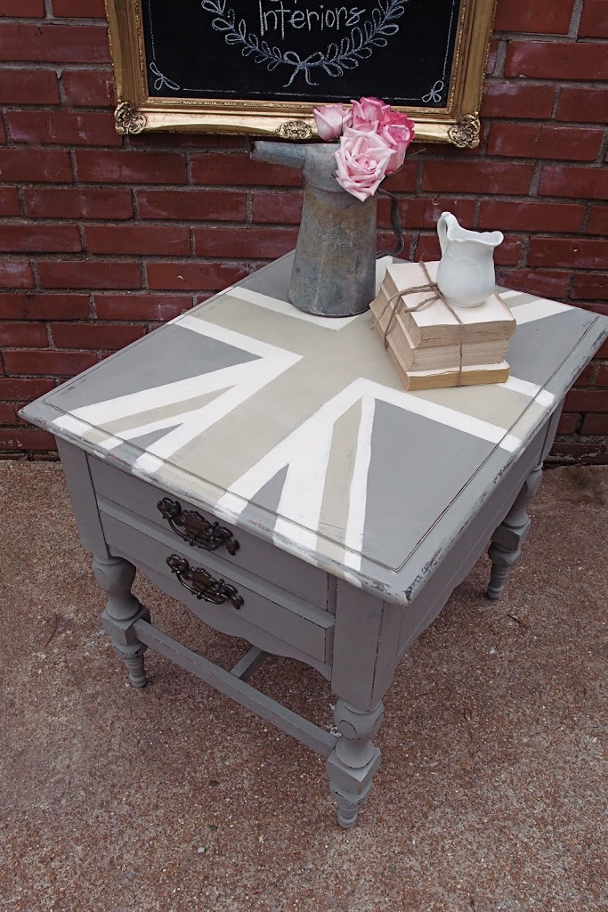 How To Make A Table Taller Brush Strokes And Union Jack End Shades Of Blue Interiors