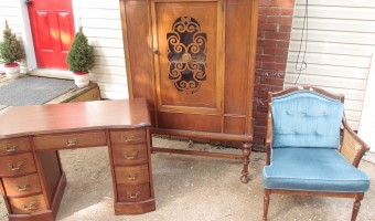 Garage Sales and a Minty China Cabinet