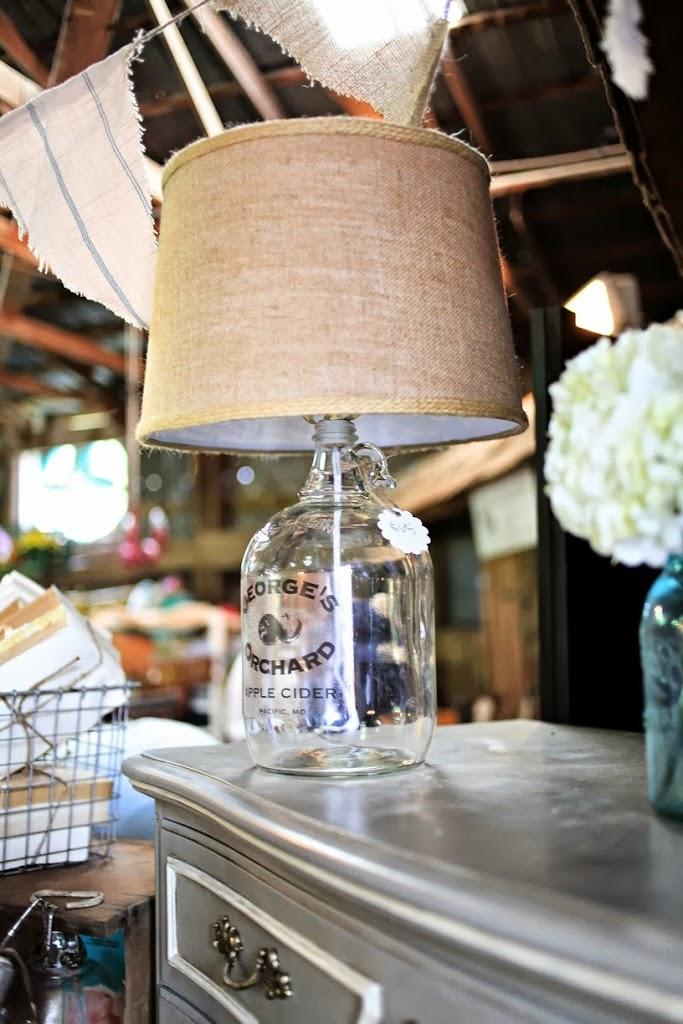 Upcycled vintage bottle lamp tutorial