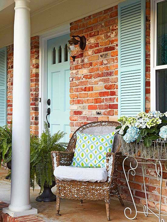Outside progress white washing brick shades of blue interiors - Better homes and gardens interior designers inspirations ...
