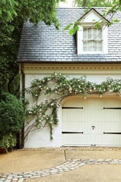 cottage garage doorsThe Look for Less Carriage Garage Door  Shades of Blue Interiors