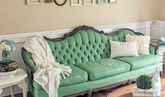Makeover Monday: Green Painted Sofa