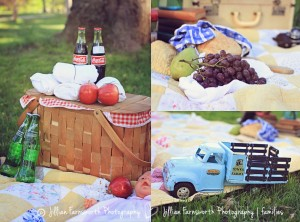 Styling A Family Photo Session Picnic Theme Shades Of Blue