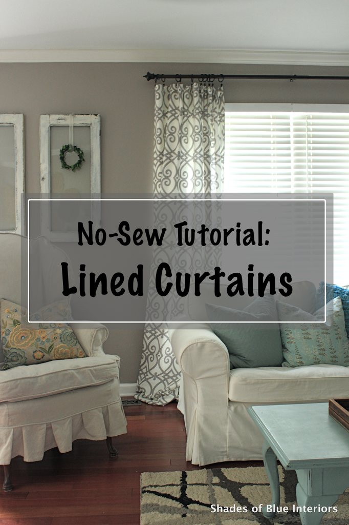 how to make lined curtains tutorial