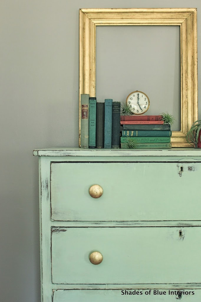 It Is Actually My Version Of A Little Mint Cabinet With Gold Leaf Knobs  That Ashley Over At The Handmade Home Has. I Kept Swooning Over It When It  Would Pop ...