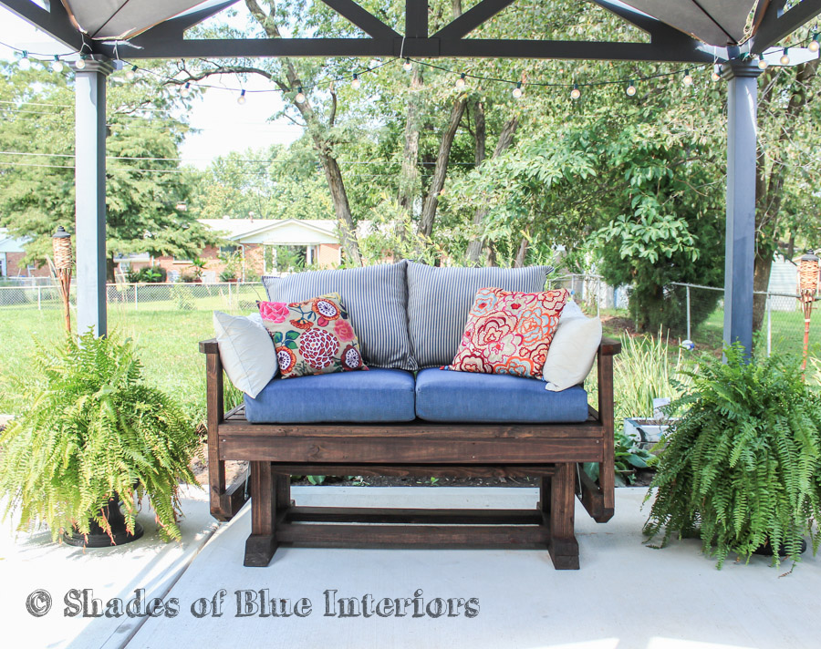 fmt wid glider hei a brown target p with outdoor cushions ashley by cushion island castle dark loveseat
