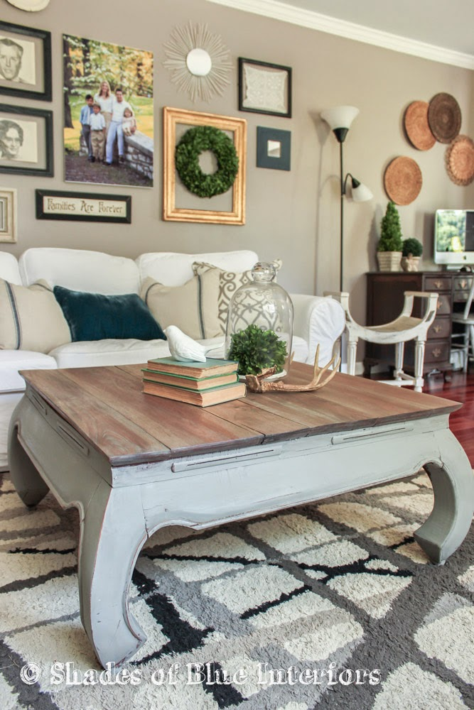 I mean Wednesday: Weathered Gray Coffee Table - Makeover Monday... I Mean Wednesday: Weathered Gray Coffee Table