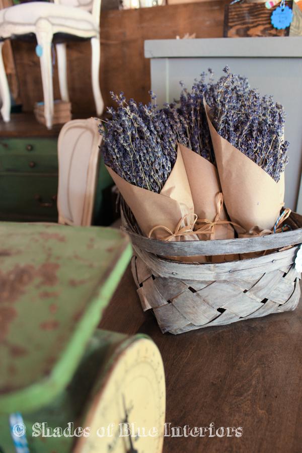 Dired laveder in a white-washed basket - Vintage Market