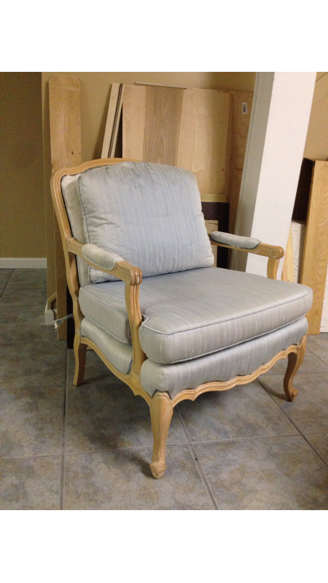 I Knew I Wanted To Give It A Restoration Hardware Look And Give The Frame A  Weathered Gray Finish. I Was Hoping To Find A Charcoal Linen Fabric, ...
