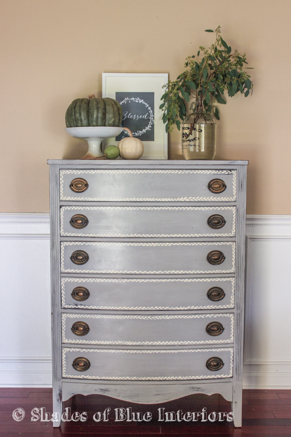 Gray Hand Painted Highboy-1