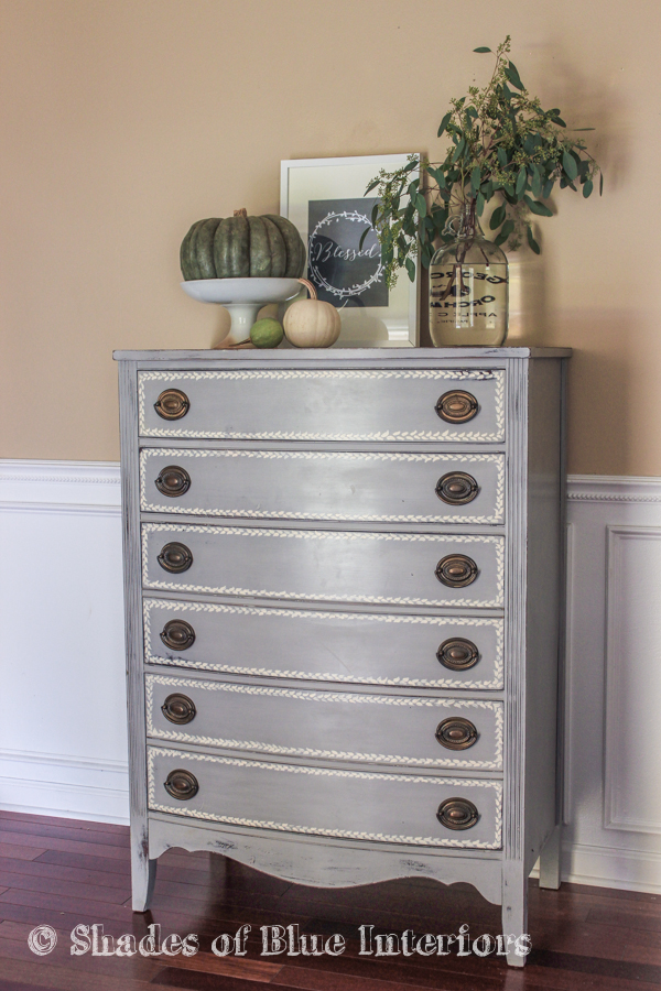 Gray Hand Painted Highboy-2