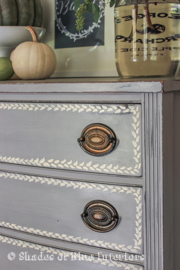 Gray Hand Painted Highboy-3