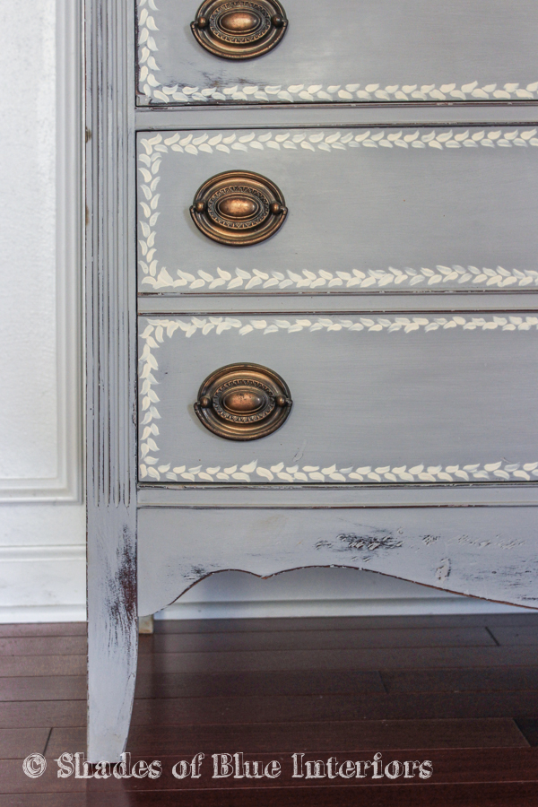 Gray Hand Painted Highboy-5