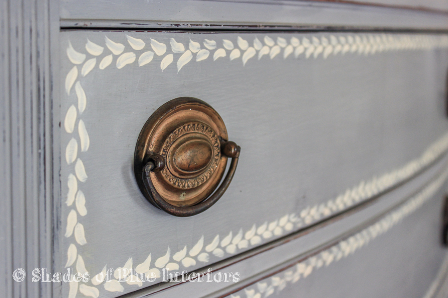 Gray Hand Painted Highboy-6