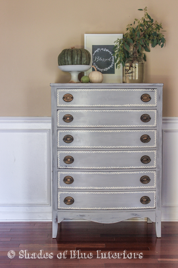 Gray Hand Painted Highboy-8