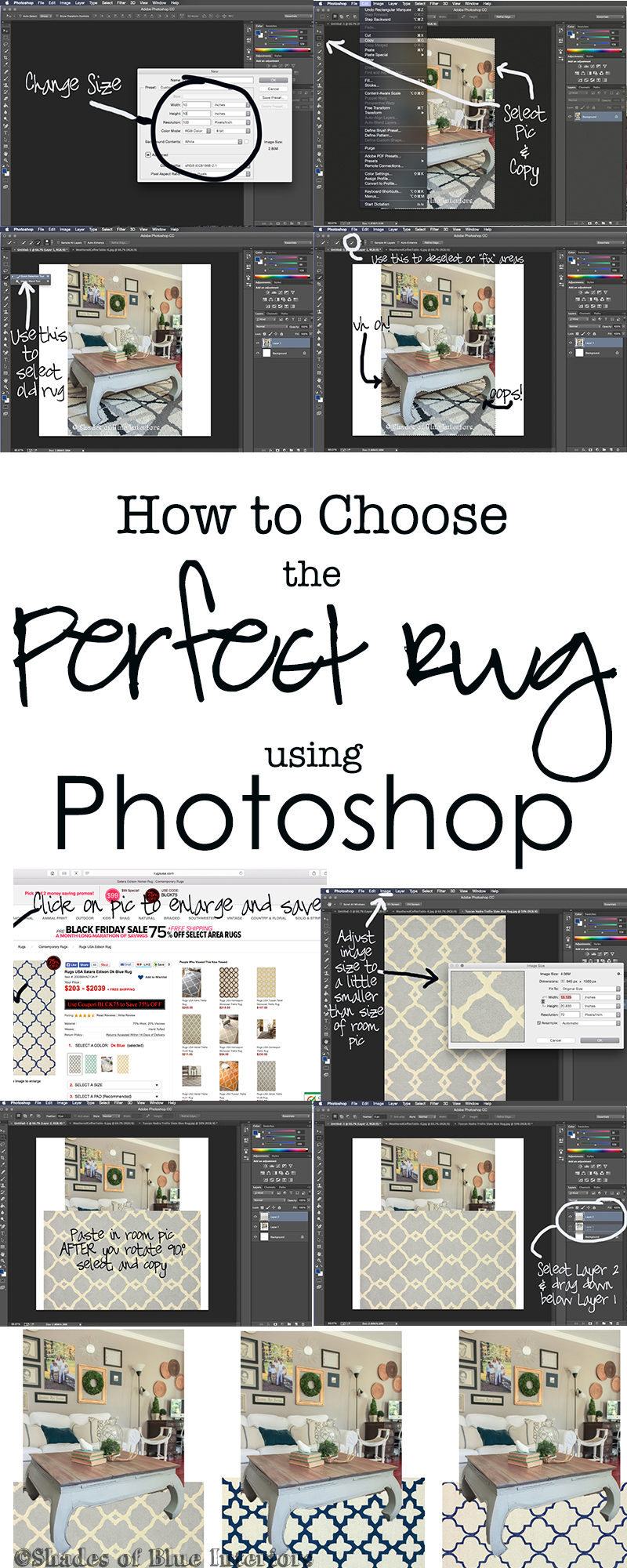How to Choose the Perfect Rug Using Photoshop