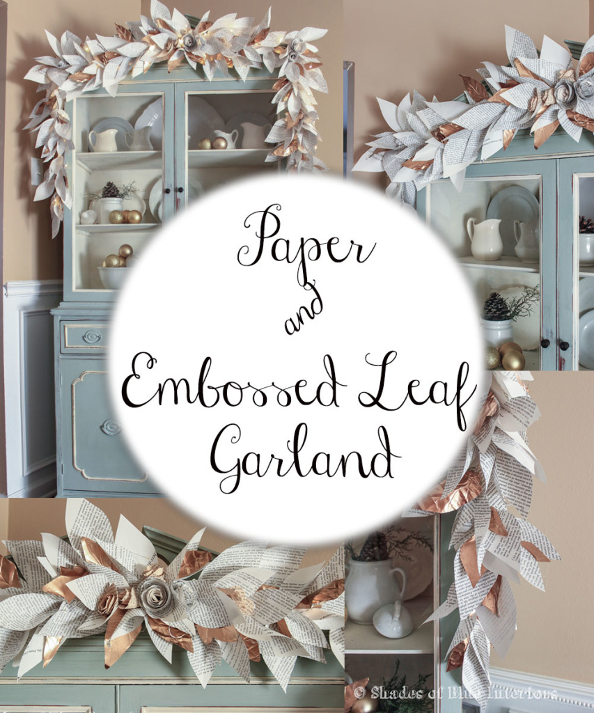 Paper and Embossed Leaf Garland