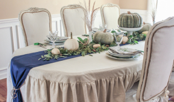 My Made, Thrifted, Gifted Thanksgiving Tablescape