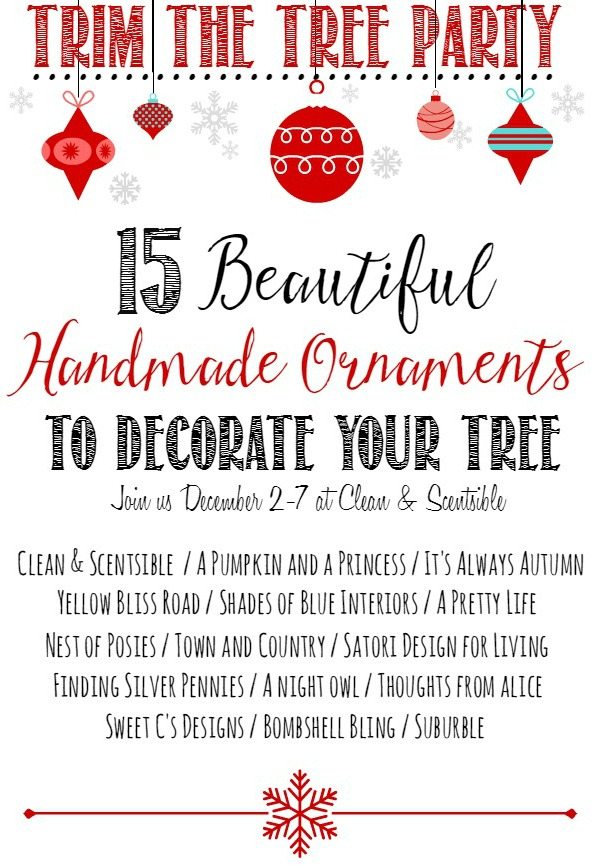 Trim the Tree Party Graphic