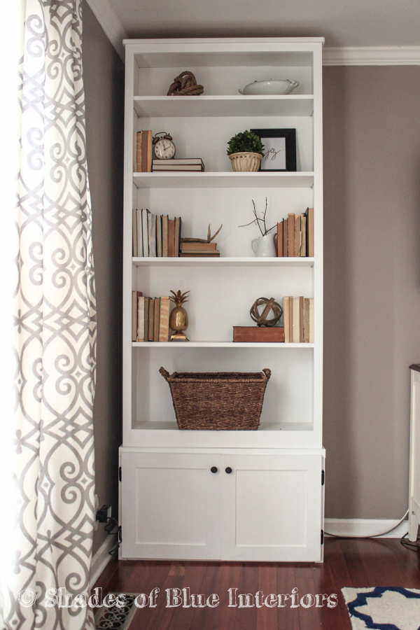 Blue Bookcase how to convert bookcases into built-ins