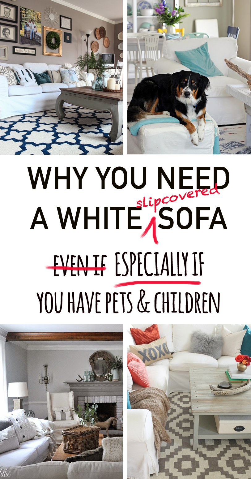 Picture of: Why You Need A White Slipcovered Sofa