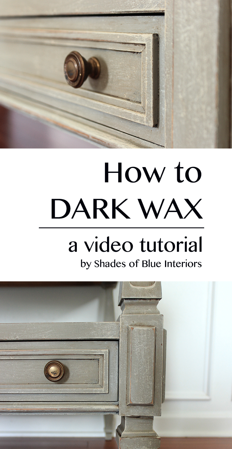video tutorial how to use dark wax. Black Bedroom Furniture Sets. Home Design Ideas