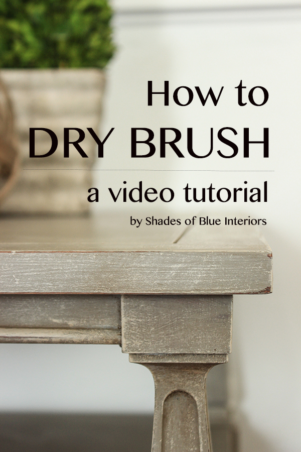 Video Tutorial How To Dry Brush Shades Of Blue Interiors