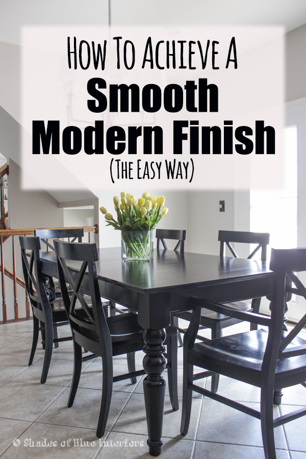 How to achieve a smooth modern finish for painted furniture