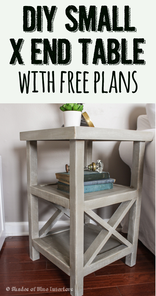 makeover monday small x end table free plans