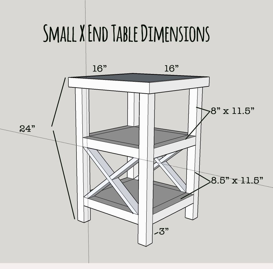 Makeover monday small x end table free plans for Side table plans
