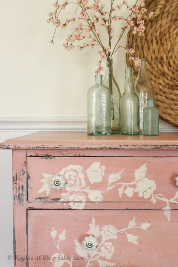 Pink Floral Dresser White Chippy Dresser With