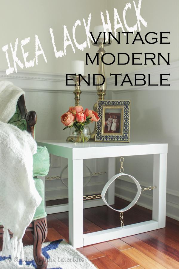 Ikea Lack Hack Vintage Modern End Table