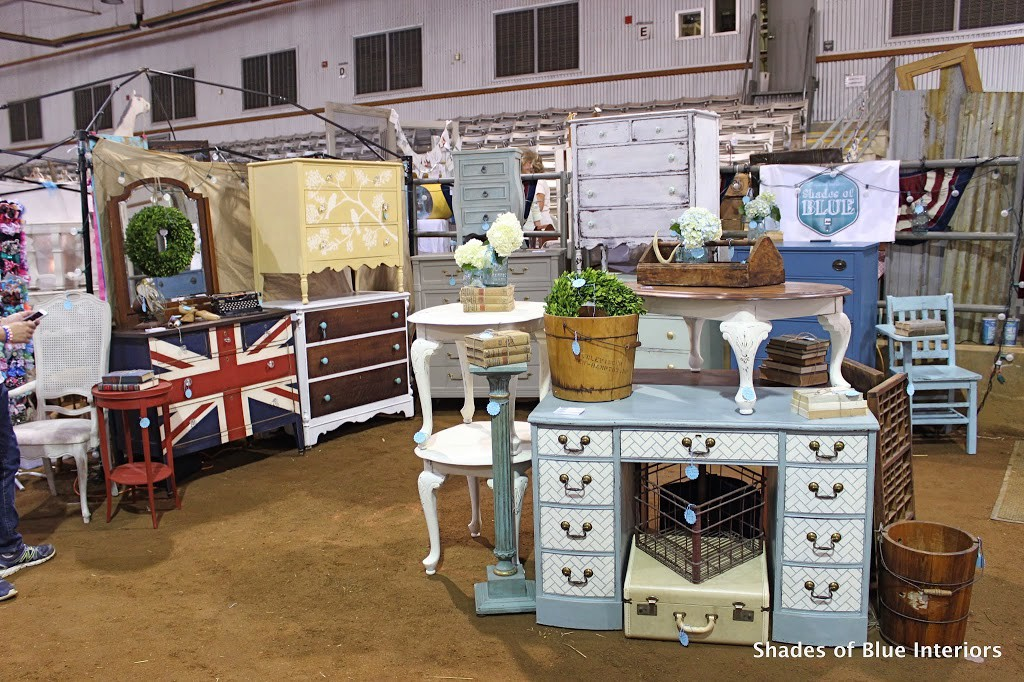 Shades of Blue Interiors booth at NW AR VMD, Spring 2014