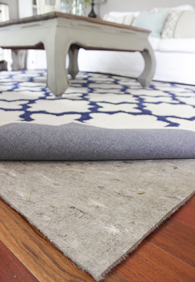 Blue Amp White In The Living Room A Rug Pad Giveaway