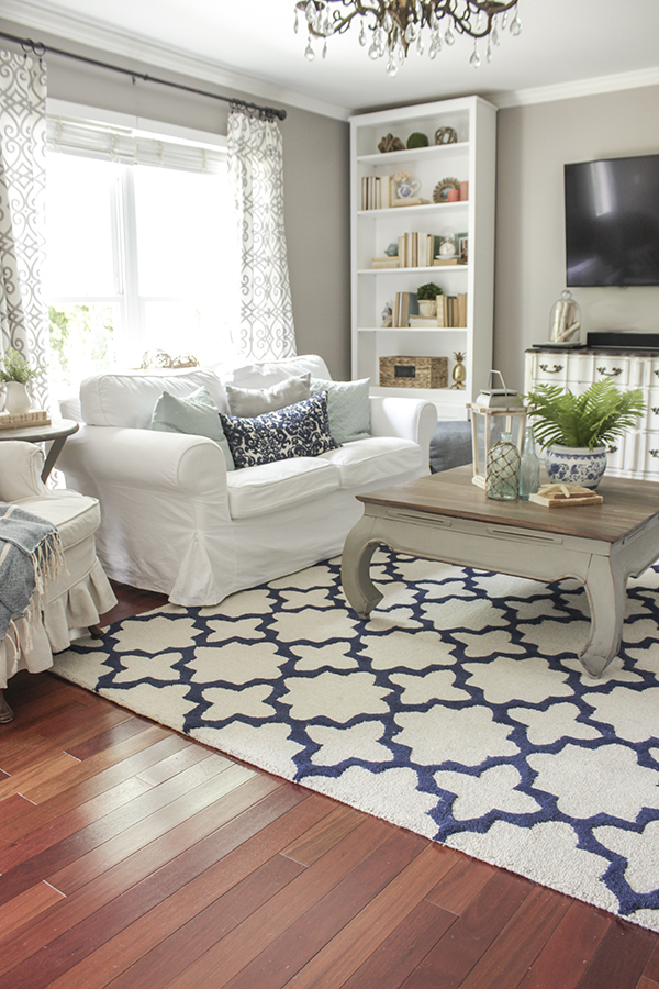 Blue White In The Living Room A Rug Pad Giveaway