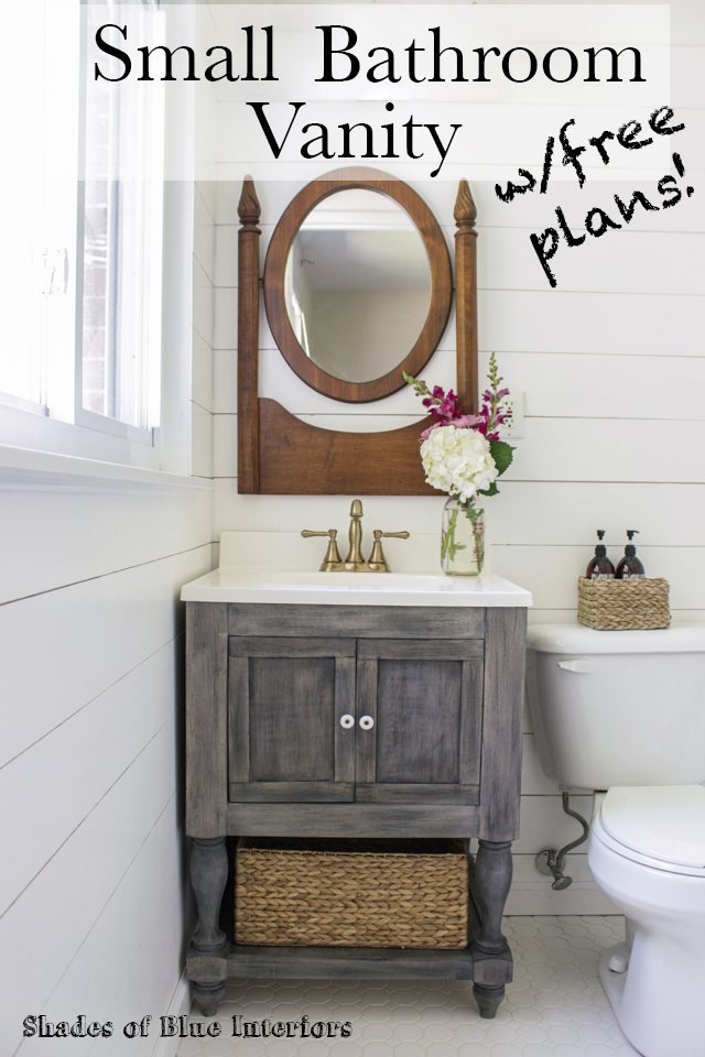Small Master Bathroom Vanity + Free Plans