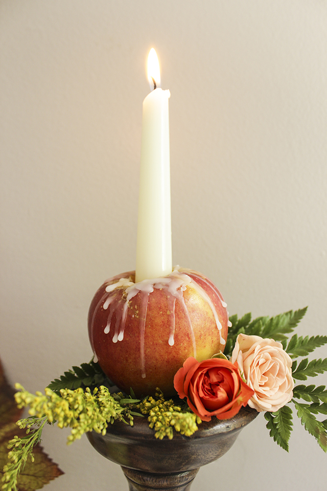 Tablescape with Apple Candles