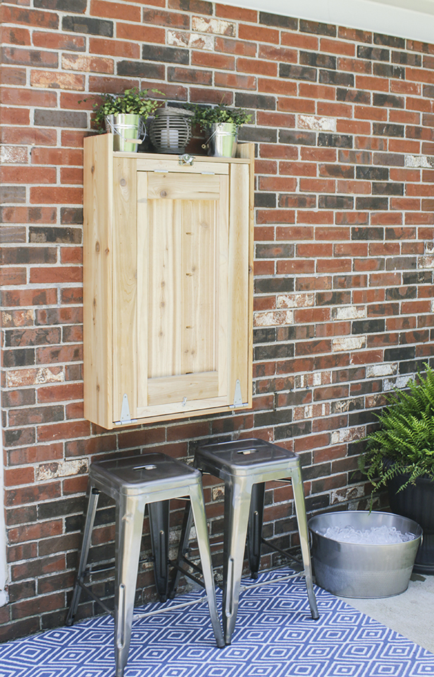 How to build an outdoor murphy bar for How to build a wall bar