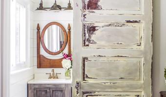 Master Bathroom Barn Door