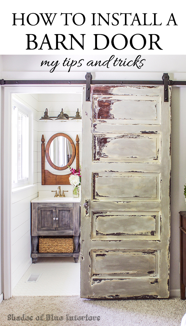 Master Bathroom Barn Door - Shades of Blue Interiors
