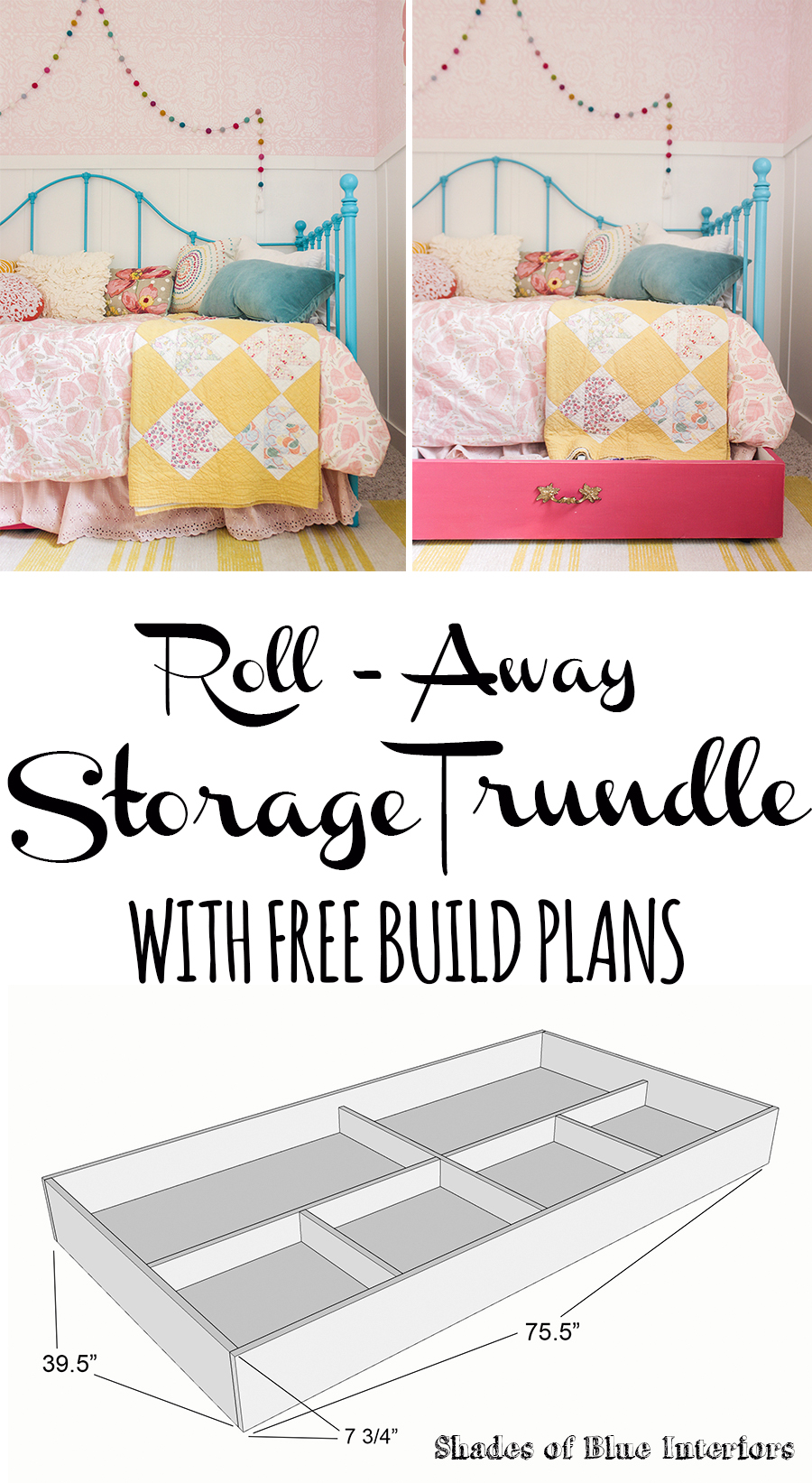 Roll Away Storage Trundle With Free Build Plans