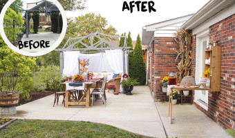Home Depot Style Challenge: Fall Festival Patio Makeover