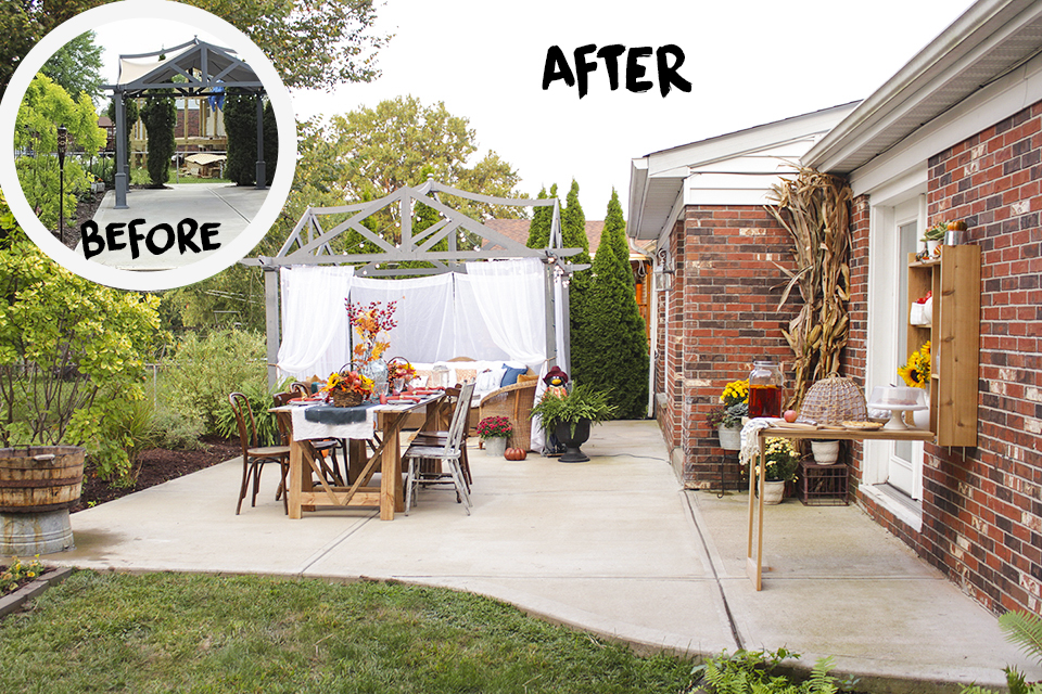 Home Depot Style Challenge Fall Festival Patio Makeover