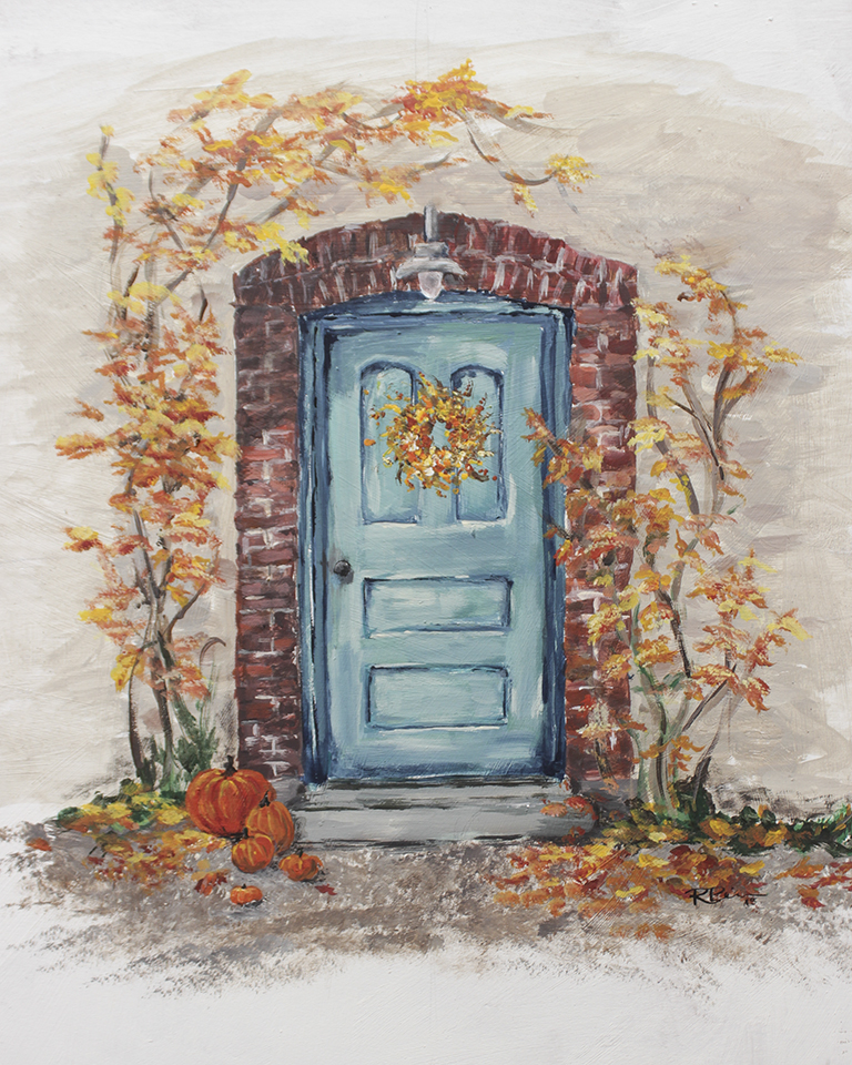 Free Fall Printable of Blue Door