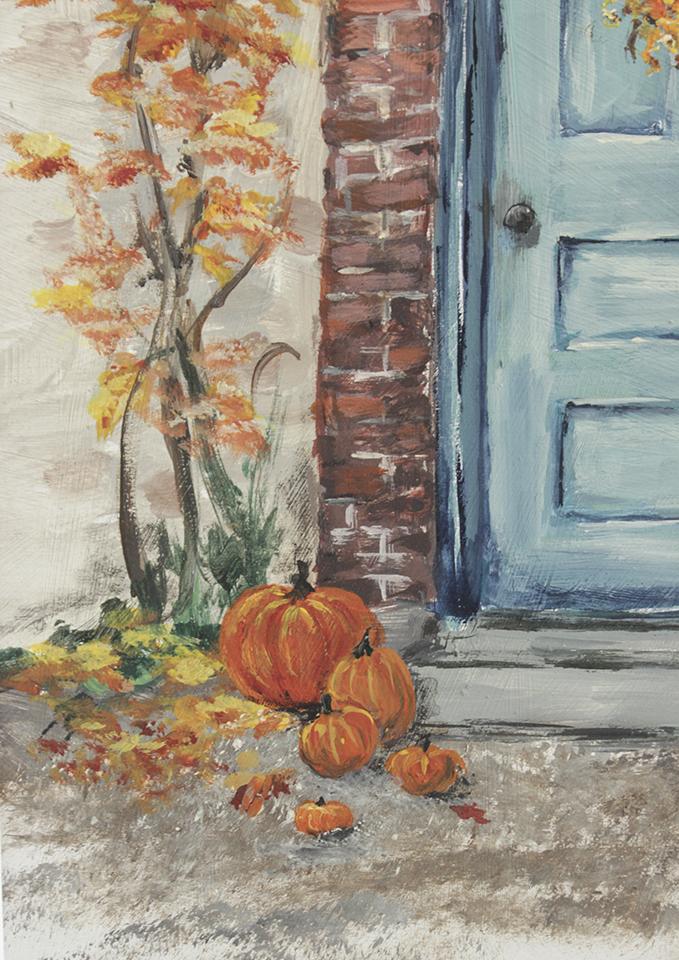 Free Fall Printable of Blue Door