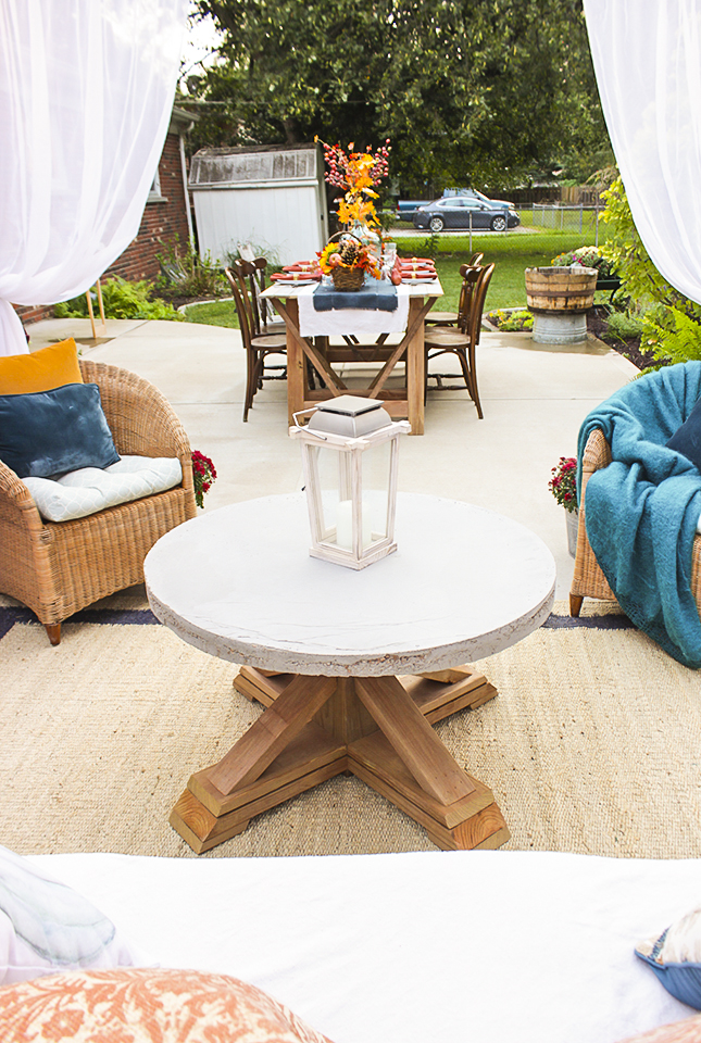 PB Knockoff Outdoor Coffee Table